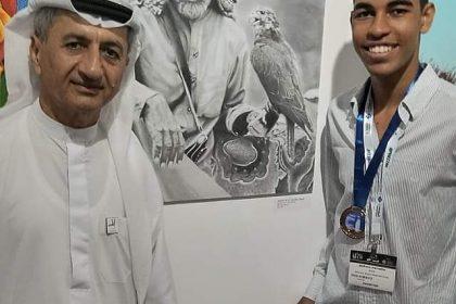 Aluno da Dom Pedro II –Luís Eduardo Magalhães expõe arte em Dubai